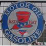 Cartel De Chapa Antiguo Motor Oil Gasoline 28x28cm
