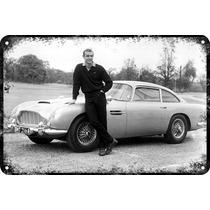 Carteles Antiguos Gruesa 60x40cm 007 Aston Martin Au-337