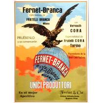 Carteles Antiguos Chapa Gruesa 30x45cm Fernet Branca Dr-065