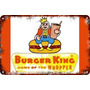 Carteles Antiguos De Chapa Gruesa 60x40cm Burger King Al-030