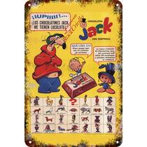 Carteles Antiguos De Chapa 60x40cm Chocolatín Jack Al-178