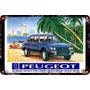 Carteles Antiguos Chapa Gruesa 60x40cm Peugeot 504 Au-633