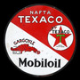 Carteles Antiguos Chapa Gruesa 50cm Texaco Mobiloil Pe-018