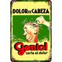 Carteles Antiguos De Chapa 30x45cm Publicidad Geniol Va-007