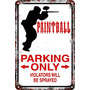 Carteles Antiguos Chapa 60x40 Parking Only Paintball Pa-77