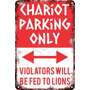 Carteles Antiguos De Chapa 60x40 Parking Only Chariot Pa-83