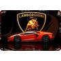 Carteles Antiguos Chapa Gruesa 60x40cm Lamborghini Au-478