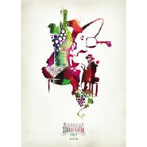 Carteles Antiguos Chapa 20x30cm Poster Vinos Wine Dr-307