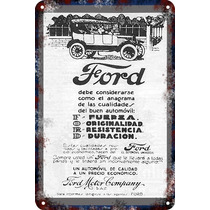 Carteles Antiguos De Chapa Gruesa 60x40cm Ford Au-020