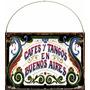 Cartel Chapa Vintage Fileteado Cafe Tango Buenos Aires L375
