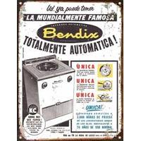 Cartel Chapa Publicidad Antigua Lavarropa Bendix M681