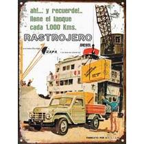 Cartel Chapa Publicidad Antigua 1962 Rastrojero Diesel L243