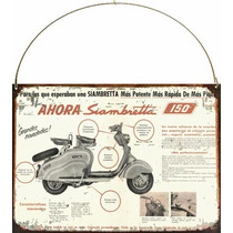 Cartel Chapa Publicidad Antigua Siambretta 150cc P250