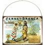 Cartel De Chapa Publicidad Antigua 1900 Fernet Branca M514