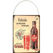Cartel De Chapa Publicidades Antiguas 1956 Crush L511