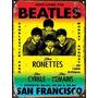 Cartel De Chapa Publicidad Beatles Afiche 1966 M480