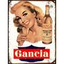 Cartel De Chapa Publicidad Antigua Gancia L509