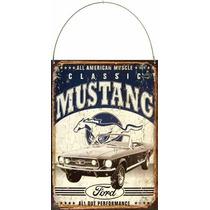 Cartel De Chapa Publicidad Antigua Ford Mustang X209