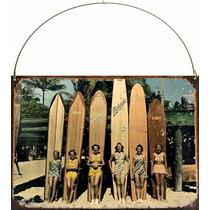 Cartel Chapa Publicidad Antigua Vintage Surf P136