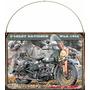 Cartel Chapa Publicidad Antigua Harley Davidson 1942 L273