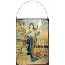 Cartel De Chapa Publicidad Antigua 1910 Fernet Branca M515