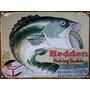Cartel Chapa Publicidad Antigua Pesca Anzuelos Carnada L119