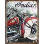 Cartel De Chapa Publicidad Antigua Indian X259