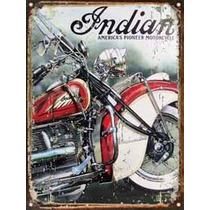 Cartel De Chapa Publicidad Antigua Indian X259