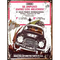 Cartel Chapa Publicidad Antigua Dkw Auto Union 1960 L246
