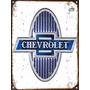 Cartel De Chapa Publicidad Antigua Logo Chevrolet M286