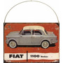 Cartel Chapa Publicidad Antigua Fiat 1100 Sedan M214