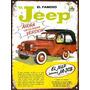 Cartel Chapa Publicidad Antigua Jeep Ika X242