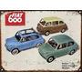 Cartel De Chapa Publicidad Antigua Fiat 600 M255