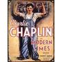 Cartel De Chapa Charles Chaplin Tiempos Modernos M918