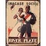 Cartel Chapa Publicidad Antigua 1934 River Plate M113