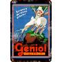 Carteles Antiguos De Chapa 20x30cm Publicidad Geniol Va-006