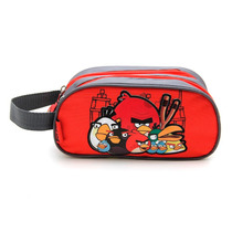 Cartuchera Angry Birds Con Dos Cierres Estampada Roja