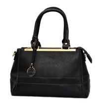 Cartera Importada Negra De Elegante Diseño Calidad Premium