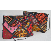 Cartera Sobre Clutch Vintage Rapsodia Traido De India
