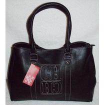 Cartera Importada Color Negro - Super Amplia Y Muy Elegante!