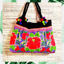 Bolso Cartera Tipo Tailandia India Bordado Ideal Maternal