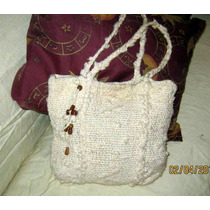 Cartera Tejida Al Crochet Forrada.artesanal.