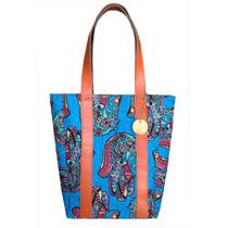 Bolso Cartera Tote Bag Lona Cuero Wicca Design Envío Gratis