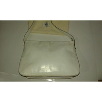 Cartera Prune Blanca Impecable. Doble Uso