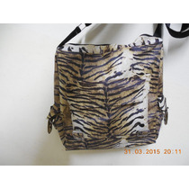Bolso Cartera Morral Cuerina Impermeable Tigre Animal Print