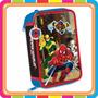 Cartucheras Hombre Araña 3 Pisos - Originales - Mundo Manias