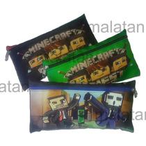 Cartucheras Originales Minecraft De Cordura Forradas Calidad