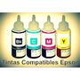Tinta Epson T664120 Compatible 4 Colores L200 L210 L355