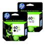 Cartucho Hp 60xl Negro+color Originales Pack Dual Hp 60 Xl