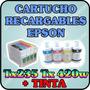 Cartuchos Recargables Para Epson Tx235 Tx420w Con Tinta